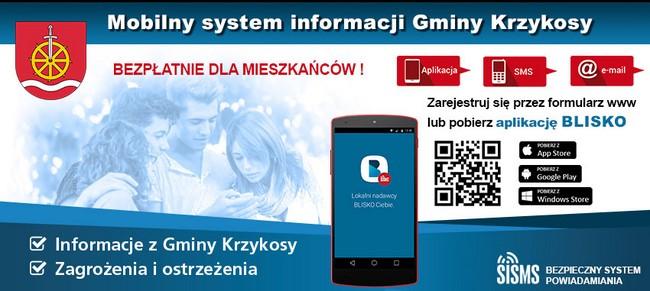 Aplikacja Blisko - mobilny system informowania Gminy Krzykosy